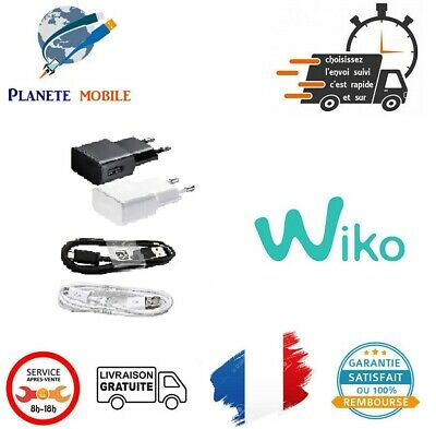 Chargeur rapide 5V 2A pour Wiko : Pulp 4G / Pulp Fab 4G / Rainbow 4G