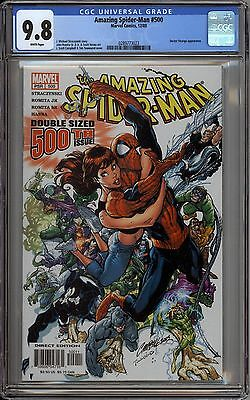 Amazing Spider-Man 500 CGC Graded 9.8 NM/MT J Scott Campbell Marvel Comics 2003