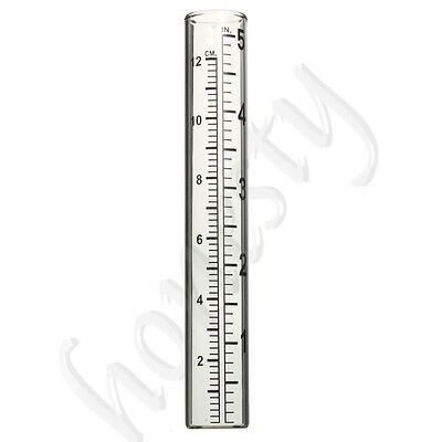 5'' Glass Rain Gauge Measure Rainfall Replacement Tube Garden Weather Station