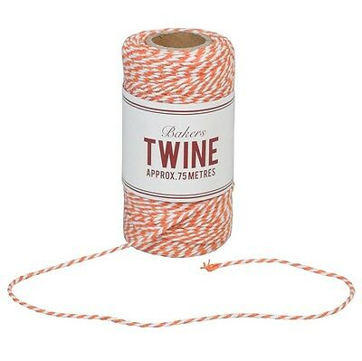 dotcomgiftshop BAKERS TWINE ORANGE AND WHITE