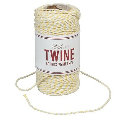 dotcomgiftshop BAKERS TWINE YELLOW AND WHITE