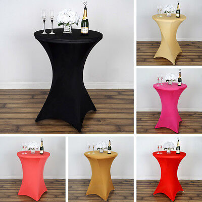2 Dozen COCKTAIL SPANDEX TABLE 24 COVERS Wholesale Fitted Wedding Tablecloths