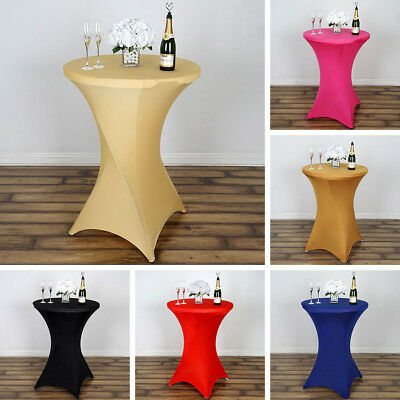 1 Dozen COCKTAIL SPANDEX TABLE 12 COVERS Fitted Wedding Party Tablecloths Linens