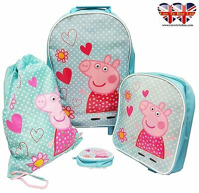 Original Peppa Pig Patchwork Luggage Set,Children Holiday Wheeled Luggage Set