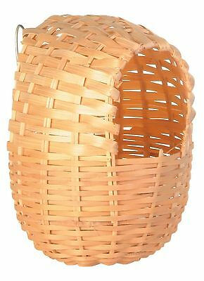 Exotic Bamboo Bird Nest with Metal Hanger for Bird Cage 11cm x 12cm