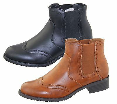 Womens Ankle Boots Ladies Chelsea High Top Casual Riding Elasticated Shoes Size