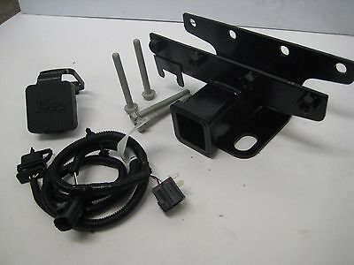 07 16 Jeep Wrangler JK Trailer Tow Hitch Receiver / 4 Way Wiring Kit /