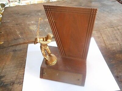 "** Vintage 8"" Dodge Inc. Golf Golfer Golfing Champion Trophy Unmonogrammed **"