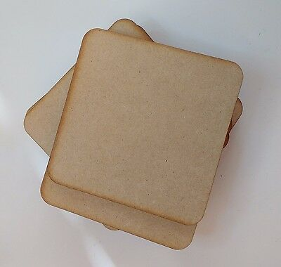 wooden coaster blanks 9cm  square MDF Pack of 10,25 or 50 craft shapes