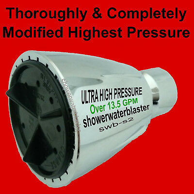 Ultra High Pressure Shower Head - Over 12.5 Gpm - The Drencher