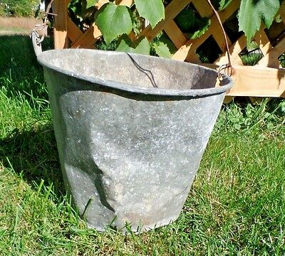 Galvanized Bucket Barn Fresh Farm House Distressed 11""