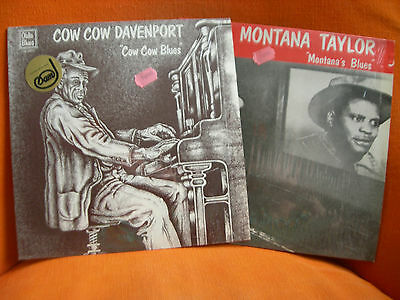 2 X Vinyl 33T – Cow Cow Davenport + Montana Taylor Barrelhouse Oldie Blues Label