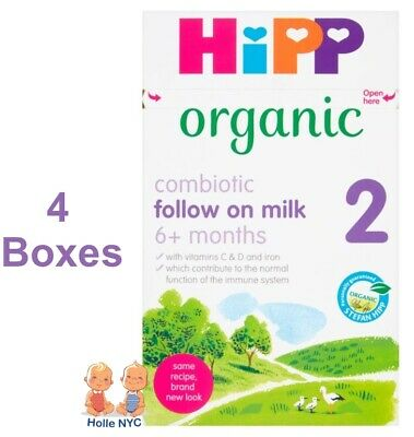 HiPP Organic Combiotic Follow On Milk Stage 2 UK Version 800g 4 BOXES 01/2018