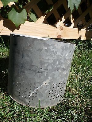 Galvanized Bucket Insert Barn Fresh Farm House Distressed 7.5""