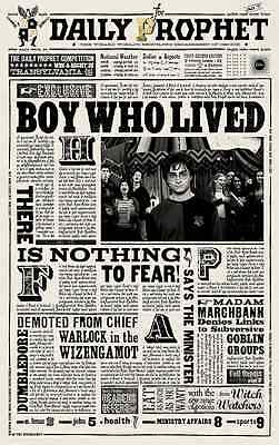 """Harry Potter - The Daily Prophet ( 11"""" x 17"""" ) Collector's Poster Print - B2G1F"""