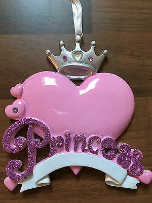 Baby Girl princess gift present keepsake hanging ornament decoration