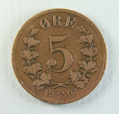1902 Norway 5 Ore; Old album collection!