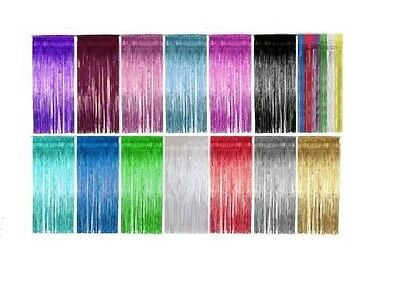 Shimmer Foil Door Curtain Gold Silver Pink Birthday Party Decoration Tinsel New