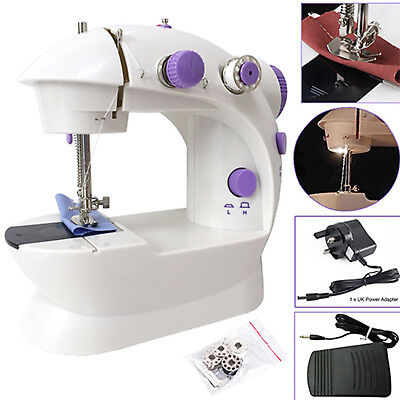 Electric Portable Mini Sewing Stitch Machine Adjustable 2 Speed Foot Pedal LED