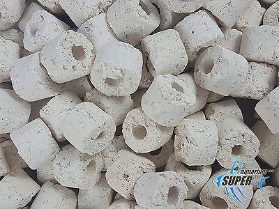 BIOLOGICAL FILTER MEDIA, 800 m2/l AQUARIUM BIO CERAMIC RINGS 15mm FISH TANK POND