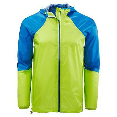 Kathmandu Zeolite Mens Light Wind Water Proof Trail Running Jacket Green Blue