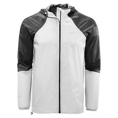 Kathmandu Zeolite Mens Light Wind Water Proof Trail Running Jacket White Black