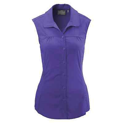 Kathmandu Jeema Womens Lightweight Button Top Sleeveless Hiking Shirt Purple