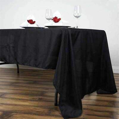 60x126 in. Polyester Rectangle Seamless Tablecloth~Wedding~NEW