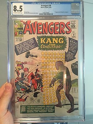 The Avengers #8/CGC 8.5 Universal OWW/1st Kang the Conqueror