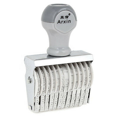 Arxin 12 Band Self Inking Rubber Stamps Numbering Machine, Off White LW
