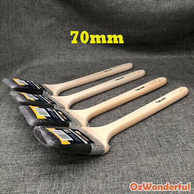 4pcs x 70mm BENDING PAINT BRUSHES STRAIGHT PROFESSIONAL PAINTING HOUSE Synthetic