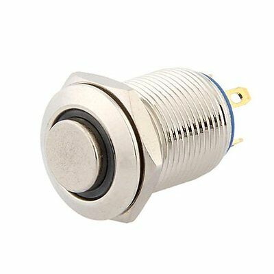 3V Push Button Switch Doorbell Button Blue LED 12 mm Silver LW