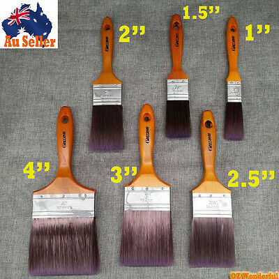 6pcs PAINT BRUSHES STRAIGHT PROFESSIONAL PAINTING HOUSE Synthetic High Quality