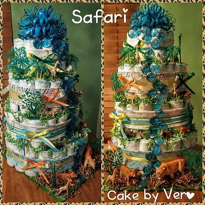 Safari Diaper Cake (4 Tier, boys)