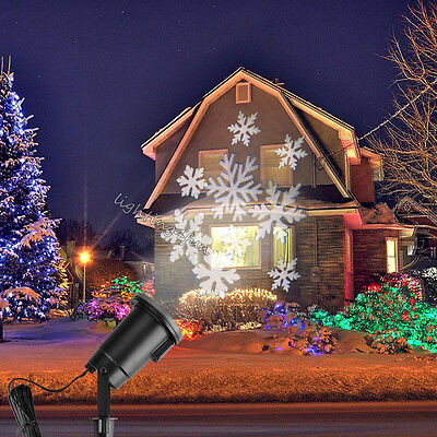 Moving Outdoor LED Snowflake Laser Light Projector Lamp