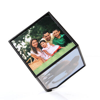 Revolving Multi Picture Frame Magic Cube Gift 360° Automatic Rotating Displays