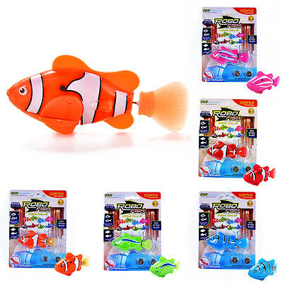 Hot Swimming Robot Battery Powered Fish in Water Magical Electronic Toy Kid