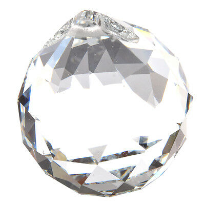 40MM Feng Shui Faceted Decorating Crystal Pendant Ball(Clear) LW