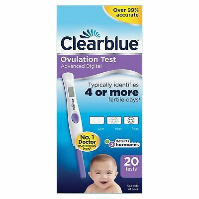 20 x Clearblue Digital Ovulation Test with Dual 2x Fertility Hormone Indicator