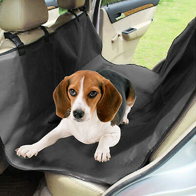 Black Heavy Duty Waterproof Rear Back Seat Protector Pet Cover Universal For Car