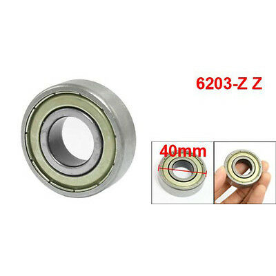 New 6203Z Deep Groove Double Metal Shields Metric Ball Bearing 17 x 40 x 12mm LW