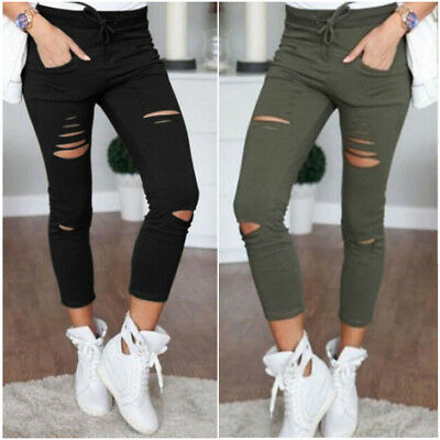 Damen Stretch Hosen Stoffhose Jeans Röhre Skinny Leggings Treggings Jeggings