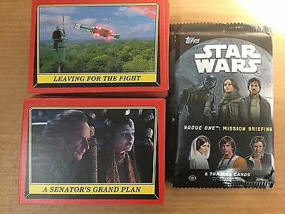 Star Wars Rouge One Mission Briefing Complete 110 Base Set & Wrappers