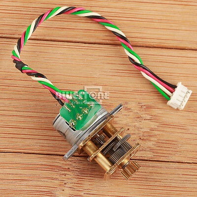 DC 5V-12V 15mm 2 Phase 4 Wire Mini Full Metal GearBox Gear Reducer Stepper Motor