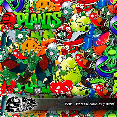1m of Plants vs Zombies (PZ01) 100cm hydrographics water transfer film
