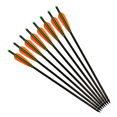New Hybrid Carbon Arrows Crossbow Bolts ID 7.62mm for Archery Hunting Outdoor