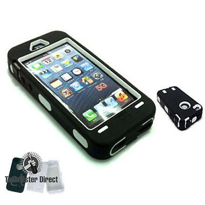 NEW Shockproof Heavy Duty Rugged Armor Case Cover For Apple iPhone 5 5S