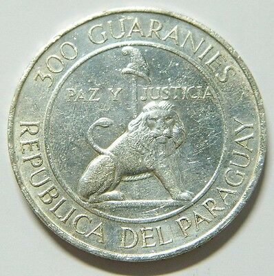 Paraguay 300 Guaranies 1973 - Stroessner - Silver   Combined Shipping