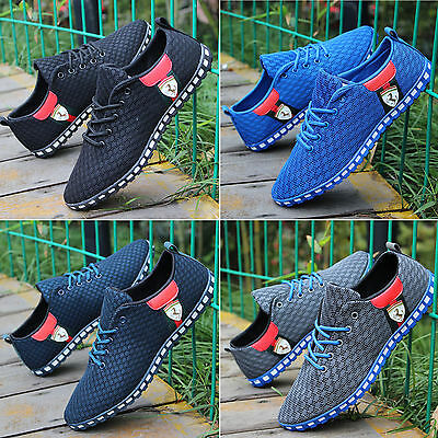 Mens Running Trainers Shoes Absorbing Sports Casual Flat Mesh Sneakers Loafers