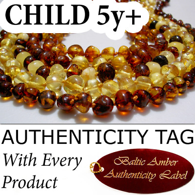 TEENAGER CHILD (5yrs+) BALTIC AMBER Necklace (39-42cm)